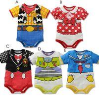 bebe clothing - New Born baby boy rompers boy costume Newborn summer roupas de bebe menino Short sleeves Baby Clothing TZX154