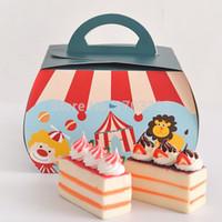 Wholesale circus troupe carnival decoration Paper Cupcake box macarons chocolate dessert box cake candy box