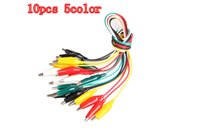 Wholesale In stock Color Double ended Test Alligator Crocodile Roach Clip Jumper Wire