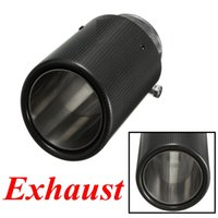 Wholesale 2015 Brand New mm Outlet Dia mm Inlet Dia Carbon Fiber Exhaust Muffler Tip Pipe for BMW order lt no track