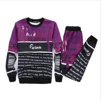 Wholesale New Casual women men boy gril suit Lean coffee milk d printed set joggers pants sweatshirt sport clothing