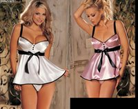 Wholesale Sleepwear Dress Nightdress Sexy Lingerie Female summer sexy lingerie sexy pajamas harness Lingerie silky goods