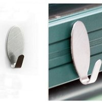 Wholesale Home Kitchen Wall Practical Door Self Adhesive Stainless Steel Stick Holder Hook Hanger