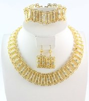 africa necklace charms - Gold Plated Charming Africa Good Quality Bridal Wedding Necklace Jewelry Sets