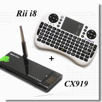 Wholesale CX Android MINI TV BOX i8 Wireless Keyboard Air Mouse RK3188 Quad Core G G Bluetooth XBMC Media Player CX919 Dongle Smart Stick