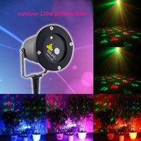 Wholesale a Christmashot promotional remote control12 pattern of red and green outdoor laser lights freeshipping
