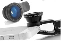 Wholesale New in Lens Metal Clip Fisheye Lens Universal Wide Angle Micro Lens for iPhone C S i6 Mobile Smart Cell Phone