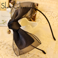 purple black hair color - Mix The original Korean hair black big bow hair accessories hairpin hair hoop color red green black blue yellow purple