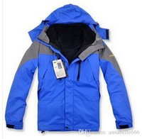 Wholesale 2015 new winter down jackets brand Men s jacket ski hiking outdoor sports suit warm waterproof of two piece hoody coat