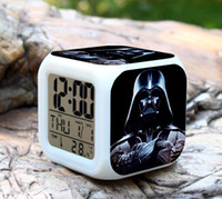 Wholesale Star Wars LED Digital Alarm Clock Change Darth Vader clock with nightlight Thermometer Calendars