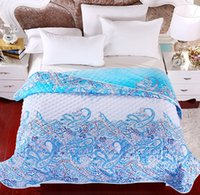 baby fresh designs - fresh cotton fabric d designed summer print blue damask delicate handmade baby quilt comforter set with matching curtains
