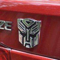 car sticker - 3D Transformers Autobot Decal Car Sticker Emblem Badge Silver Hot