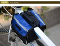 Wholesale 170mm Bicycle Dual Side Bag Bike Pipe Bag Saddle Bag In One Bilateral Pack Large Size Dual Side Bag