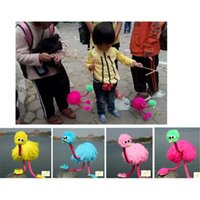 Wholesale 2PC Chinese Tradition Art Ostrich Shape Muppets Crafts Funny Handmade Toys