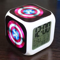 animation desktop - Factory Film and television animation and creative perspective Continental hero Captain America Desktop colorful alarm clock sitti