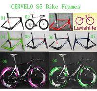Wholesale 2014 Cervelo Carbon Bike Frames S5 VWD Road Racing Bicycle Frameset Aero Tube Road Bicycle K T800 Full Carbon Fiber Cycling Frames