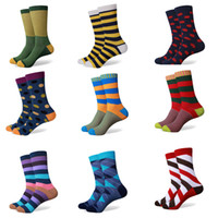 Wholesale new styles No logo men s Combed Cotton Colorful socks US size
