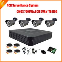 Wholesale CCTV CH Full D1 CH P2P HDMI H DVR with TB HDD Video Surveillance System Security System CMOS TVL IR Camera Kit