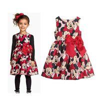 animal naturals custom - Retro Children Dress Lovely bow Full Printing Children Wear Sexy Sleeveless Kids Dress Cotton Child Custom Baby Girl Dress M054