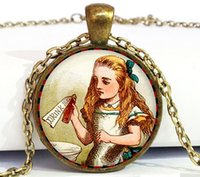 alice gold necklace - Alice in Wonderland Jewelry Alice Pendant Necklace Alice in Wonderland Pendant Necklace Fairytale Necklace Fairytale Jewelry