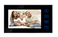 Wholesale 4 wires video door phone with inch TFT LCD screen touch button design Intercom unlocking monitoring functions