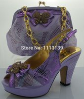Pumps italian shoes - 2015 New Style of Women Lilac ME0091 Beautiful Italian CM HIGH HEELS shoes with bags to match for wedding dresses