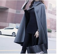 army trench coats for sale - Hot Sale Atumn winter fashion women s wool blend cape hooded trench coat casual cloak long outerwear for lady