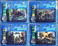 teenage fashion - Fashion popular kids children boys Teenage Mutant Ninja Turtles wallet and watch sets D Cartoon Gift Leather PU watches