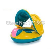 baby float canopy - Interesting Yellow Safe Inflatable Toddler Baby Swim Ring Float Seat Swimming Pool Seat with Canopy