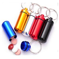 pill box - DHL Travel Aluminum Alloy Pill Box Pill Case Keyring Weekly Aluminium Alloy Medicine Storage Container Case
