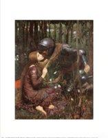belle portrait - La Belle Dame Sans Merci Painting by John William Waterhouse Portrait Art High quality Hand painted