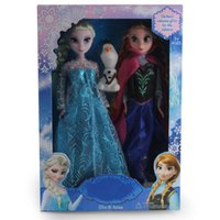 Wholesale Sample Order Frozen Elsa and Anna Princess Kids Toys Snowman Olaf Baby Dolls Christmas Gift For Girls S30291