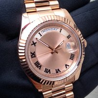 rose - Hot sale top brand watch mechanical automatic watches luxury rose gold date wristwatch