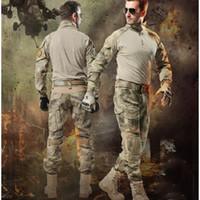 army combat coat - Army troops TAD Tactical Camo training uk Military Set Protective Gear Multicam Shirt Coat ARMY Combat Uniform jacket pants