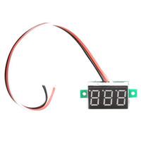 Wholesale NEW Digital Voltmeter DC0 V Red Light LED Panel Voltage Meter
