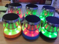 Wholesale Mini Speaker X28 Wireless Bluetooth Speaker LED light Speaker Hands free Support TF Card FM USB Flash Disk for samsung Note iphone