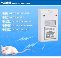 Wholesale 1 pc Repeller Ultrasonic Electronic Mouse Repeller Anti Mosquito Insect Reject Cockroach Pest Control