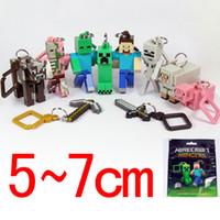 minecraft - Minecraft Hanger Creeper Figure Backpack Keychain Clip D PIG minecraft D keychain