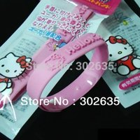 Cheap Free shipping 1500pcs lot natural cute cat Mosquito insect bracelet band baby wristband Repellent anti Bracelet