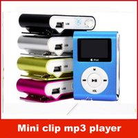 Wholesale Mini Clip MP3 Player With Screen Support Micro SD TF Card GB Sport MP3 Metal MP3 New Style MP3 MP4 With Retail Box