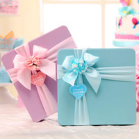 heart shaped tin box - 10pcs Large Candy Favor Tin Favor Holders For Wedding Supplies Wedding Faover Boxes Small Gift Box Chocolate Bag With Gift Bags