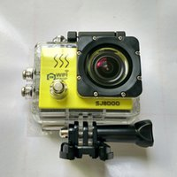 Wholesale SJ8000 WiFi Sports Action Video Camera DV inch LCD Diving Action Helmet Cam Car DVR M Waterproof Novatek fps