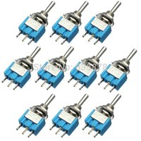 Wholesale 10Pcs New Blue Pins ON OFF ON Position SPDT Toggle Switch AC V A Waterproof
