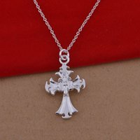 large cross jewelry - Trade jewelry sterling silver necklaces Korean pop fireworks cross necklace large spot