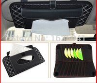 Wholesale new Brand Auto Triple CD folder tissue pumping Car visor tissue boxes Quality Suite CD folder bbaa