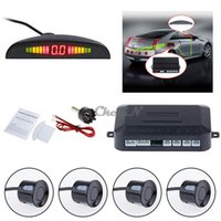 Wholesale LCD Display Auto Car Parking Sensor Buzzer Alarm Reversing Detector System Parking Radar With Sensors Dual Core CPU DV007 order lt n
