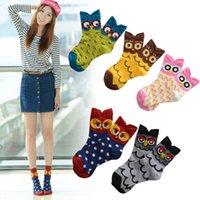 fuzzy socks - fuzzy socks new Korea kawaii animal Stereo meias owl pattern cartoon cotton socks women calzas casual calcetines