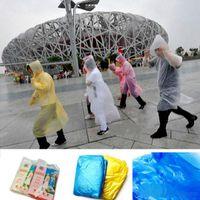 plastic raincoat - 2015 New In Fashion Hot One Time Disposable PE Raincoats Poncho Rainwear Travel Rain Coat Rain Wear gifts mixed colors
