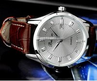 Wholesale Details about Classic Men s Casual Quartz electronic Stainless Steel Leather Wrist Watch free ship