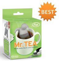 Silicone Rubber best tea infusers - Wholesales Best price Mister Tea Infuser MR Tea Silicone creative Tea Bag Funny Cute Mr Tea Infuser Mr Tea Tea Strainers